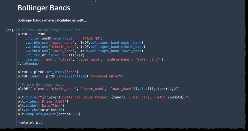 finspace plot bollinger bandcode