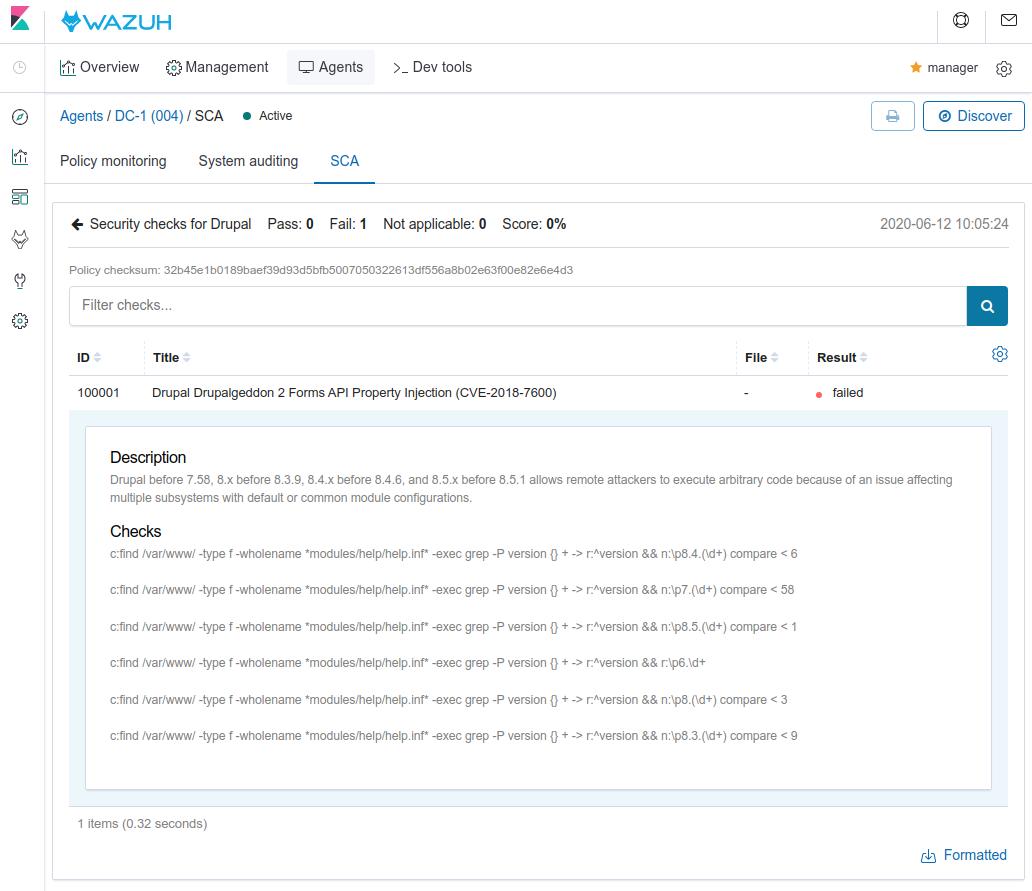 Drupal policy. Screenshot.