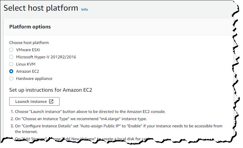 FSx File Gateway platform options