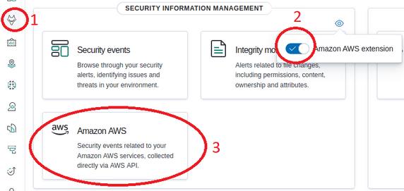 Enabling AWS Extension in Wazuh APP